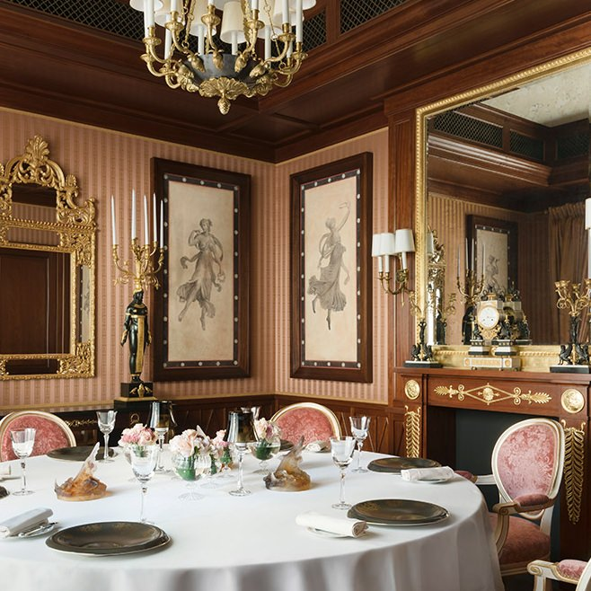 Dining h tel ritz paris 5 stars for Most beautiful dining rooms in paris